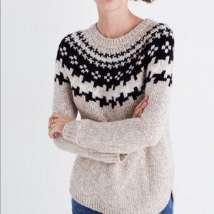 Madewell Driftweave fair isle sweater